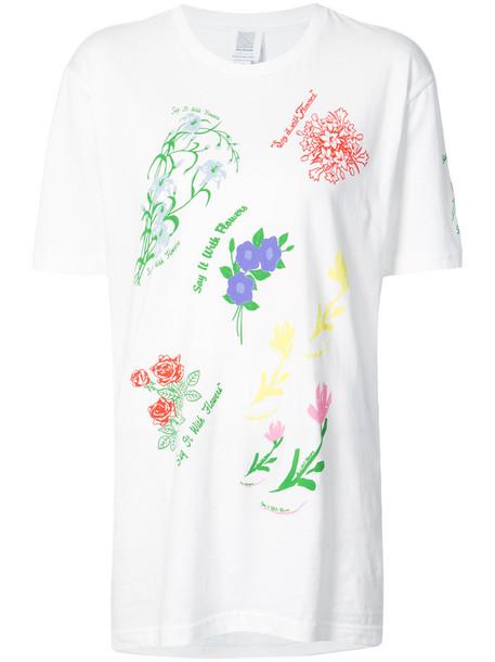 Rosie Assoulin t-shirt shirt t-shirt women floral white cotton print top