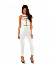 Mesh Panelled Jumpsuit - New Arrivals