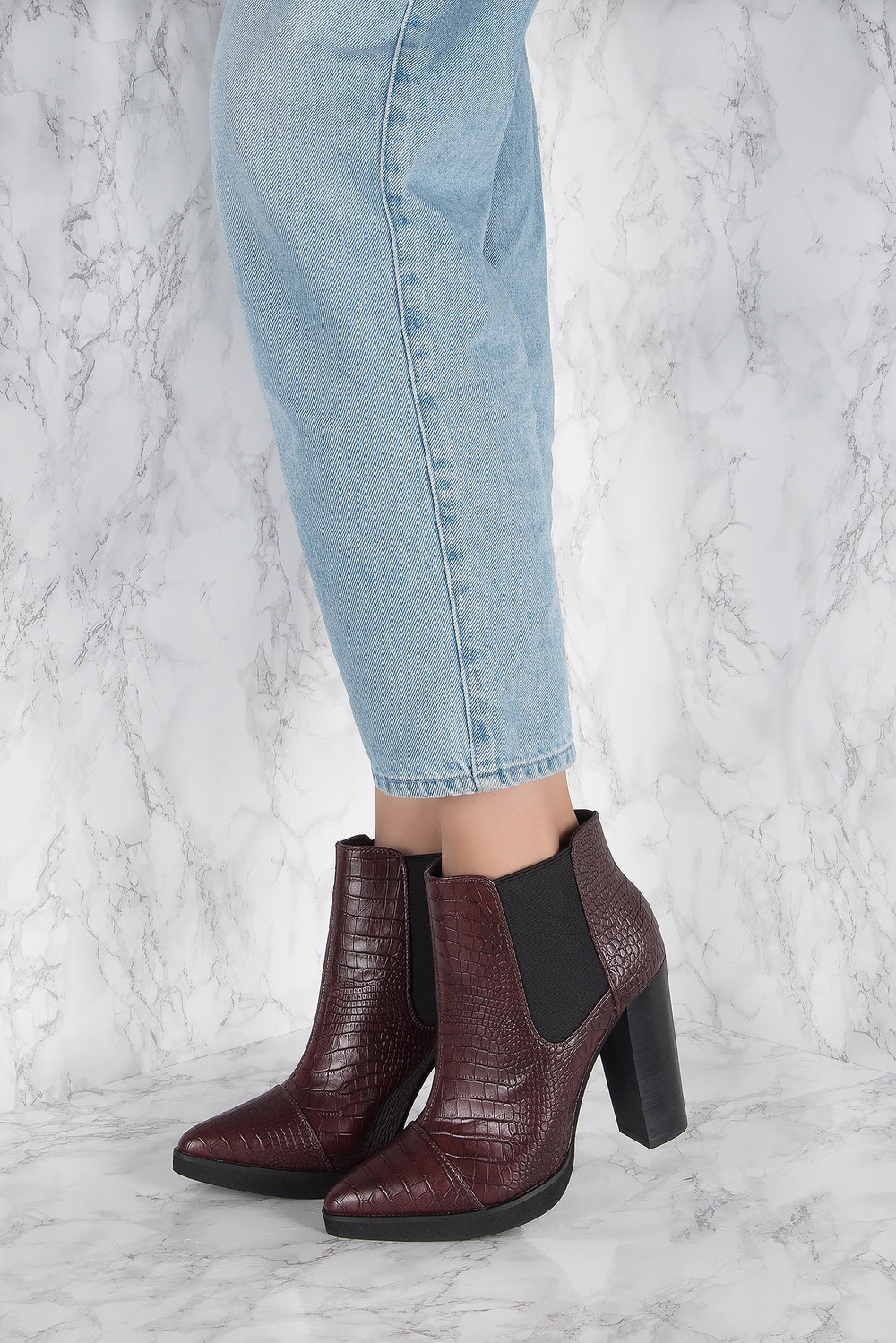 NA-KD Shoes High Heel Pointed Boot