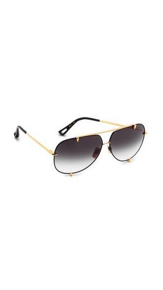 clear sunglasses gold black satin grey