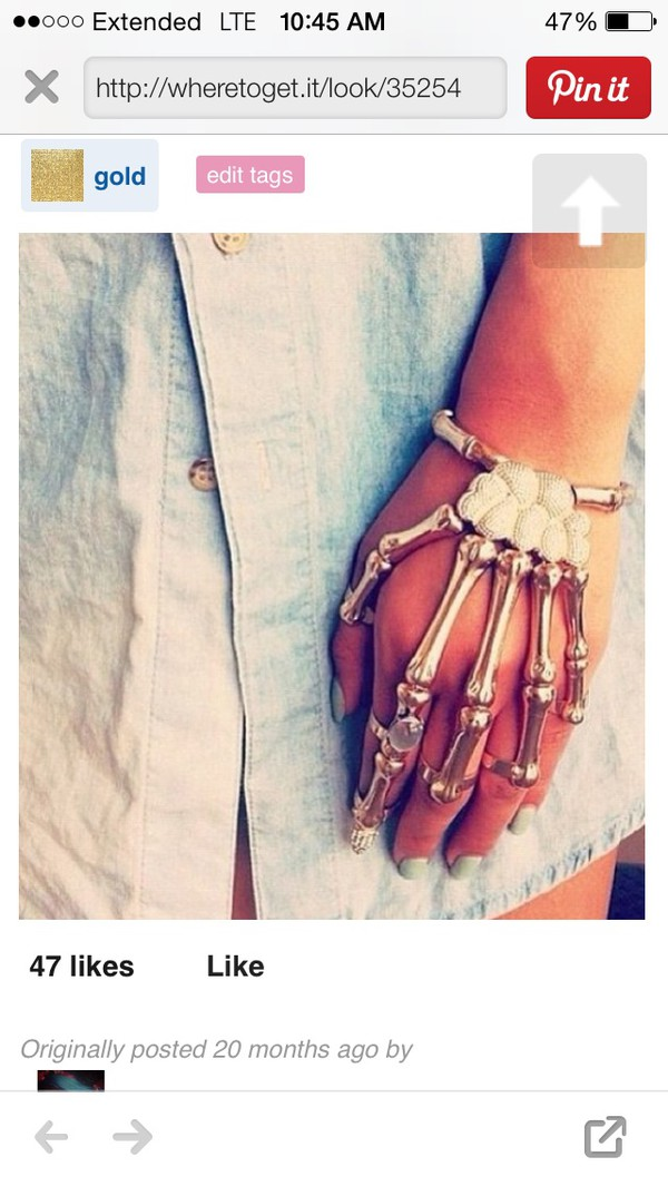 gloves skeleton ring bracelets halloween costume halloween