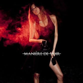 dress maniere de voir racerback mesh slit slit side black ana tanaka