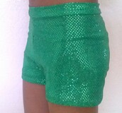 shorts,sequins,sparkle,green,short,high waisted,party,glitter,emerald green,dance,cheerleading