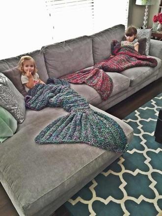 home accessory mermaid blanket blanket mermaid cozy cute