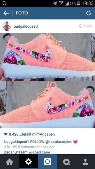 shoes nike nike shoes floral nike sneakers nike sneakers roshes floral