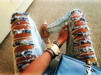 jeans ripped jeans demim destroyed jeans destructedjeans distressed jeans