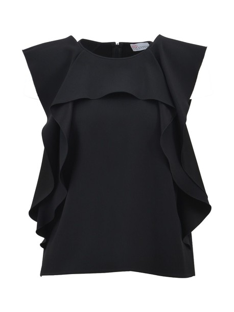 RED VALENTINO top satin black
