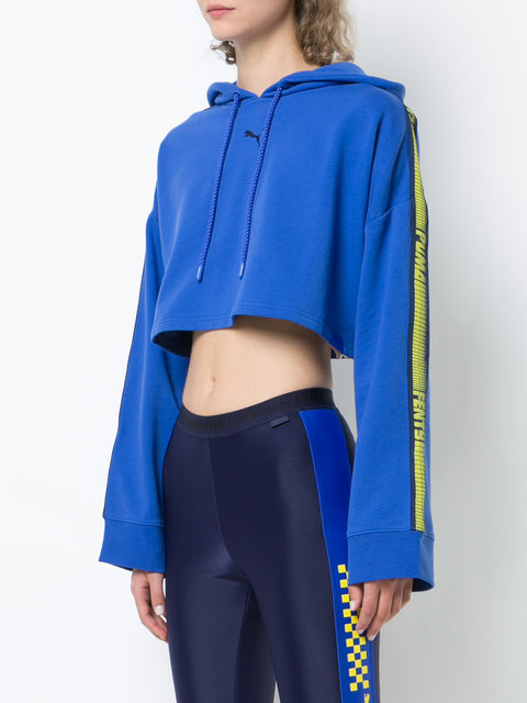 best website 8e084 9ac9c Fenty X Puma Hooded LS Cropped Sweatshirt - Farfetch