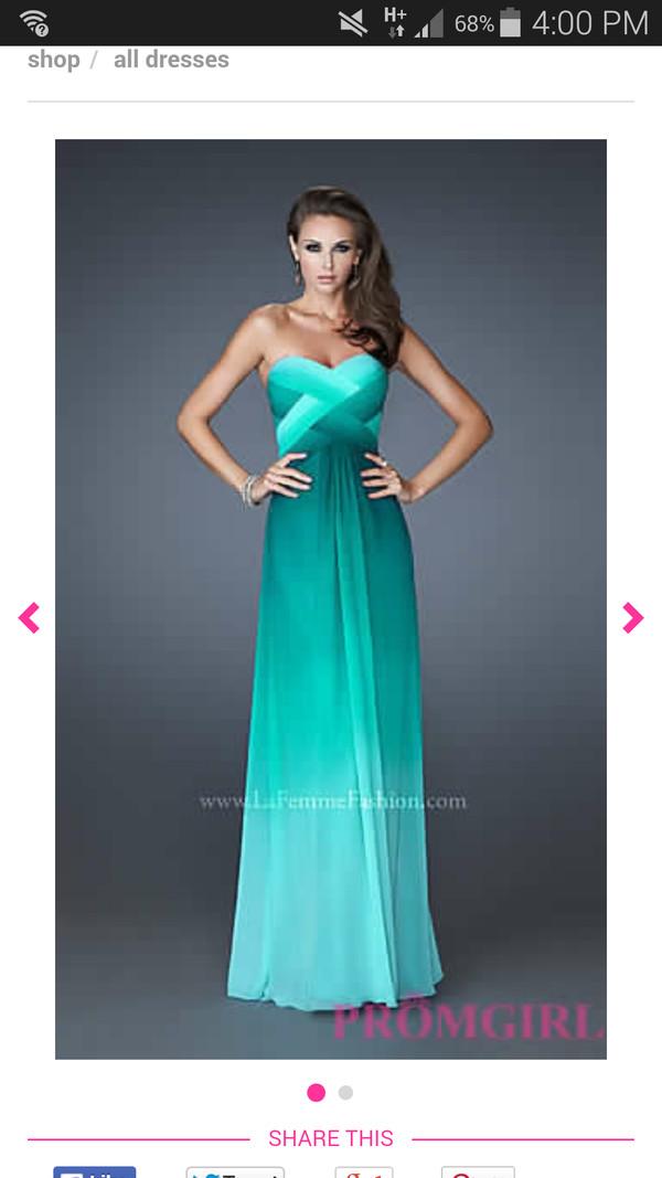 ombre dress prom dress graduation dress blue dress fishtail dress