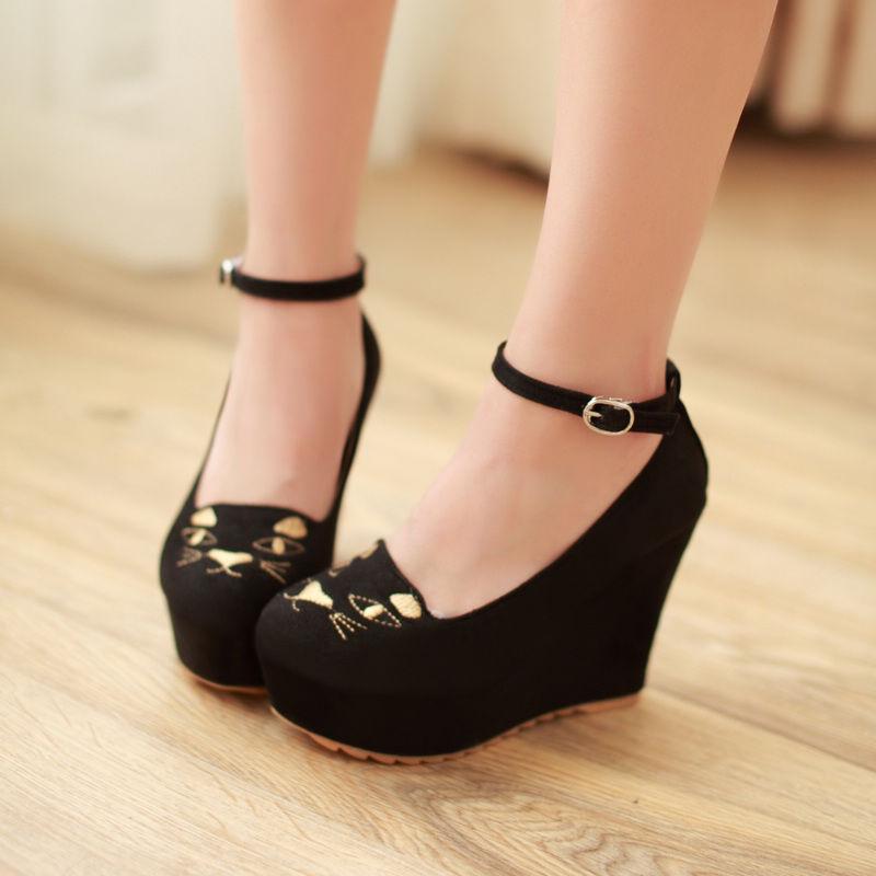 Ebay Womens Wedge Heel Shoes