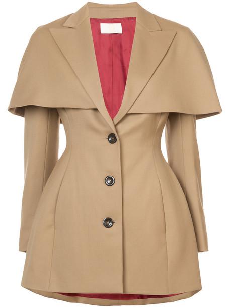 Sara Battaglia blazer women wool brown jacket