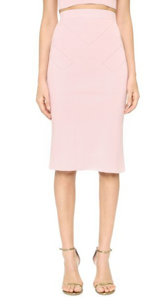 Cushnie Et Ochs High Waisted Pencil Skirt - Light Pink - Wheretoget