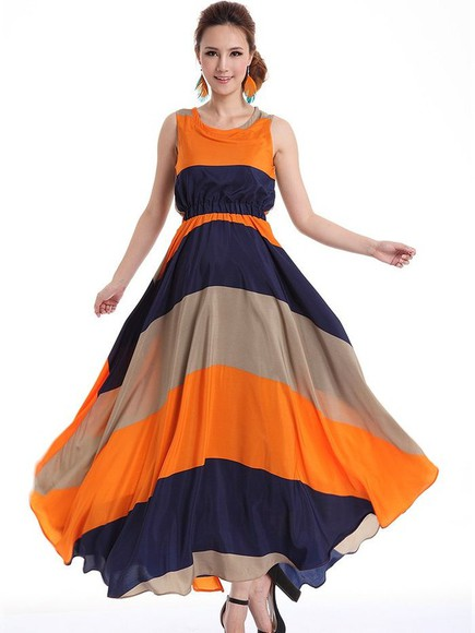 dress maxi dress navy dress long dress orange dress beige dress flowy