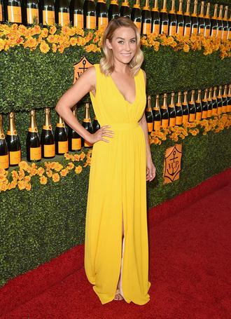 lauren conrad blogger dress maxi dress yellow dress
