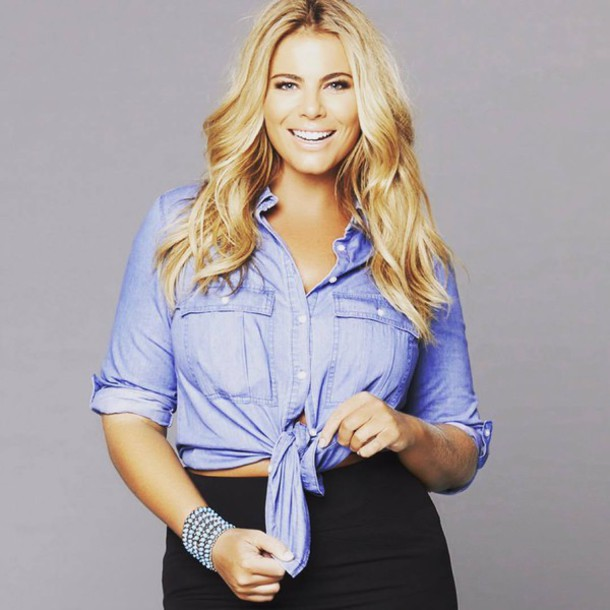 f2f9c86a08 shirt fiona falkiner model curvy plus size denim denim shirt skirt black  skirt pencil skirt blue