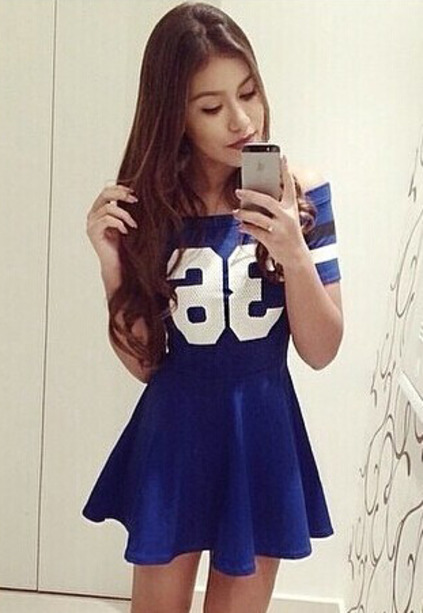 36 print flouncing dress