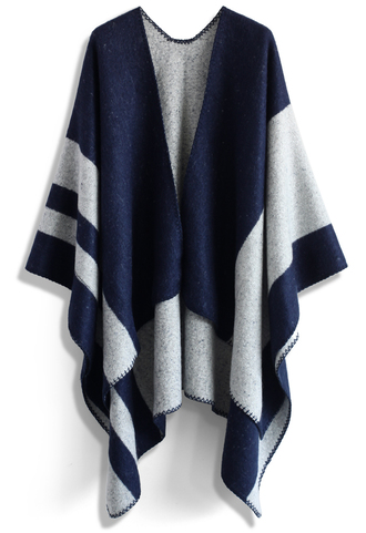 scarf winsome blue blanket cape chicwish cape