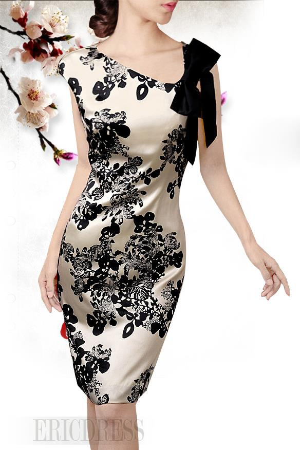 2014 Elegant Real Silk Sheath Dresses  Bodycon Dresses- ericdress.com 10953062