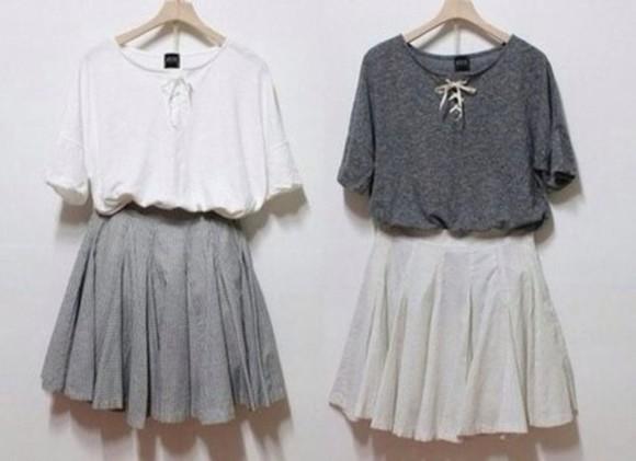 white skirt skirt blouse pleated skirt top