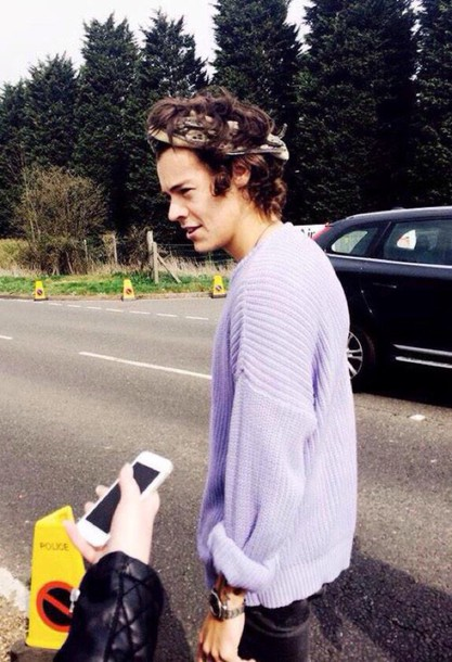 sweater harry styles sweater lavender/lilac