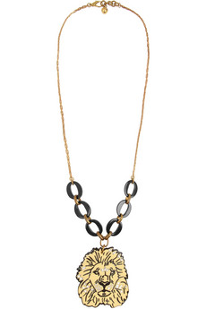 Lulu Frost Gold-tone, crystal and resin lion necklace  - 50% Off Now at THE OUTNET