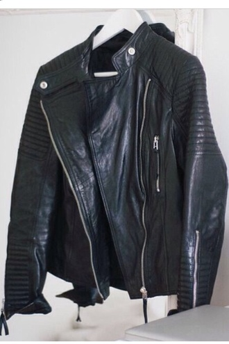 jacket black black leather jacket perfecto leather black leather leather jacket details silver detail silver details zip instagram fashion luxury