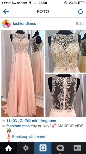 rose peach long dress dress clothes prom dress prom long dress peach dress rhinestones light pink embellished dress embroidered dress long prom dress graduation dress mesh detail dress embroidered elegant long dresses pink dress pink prom dress light pink dress sheer back dress beaded dress lightpink pink glamour homecoming dress maxi girly gorgeous dressofgirl
