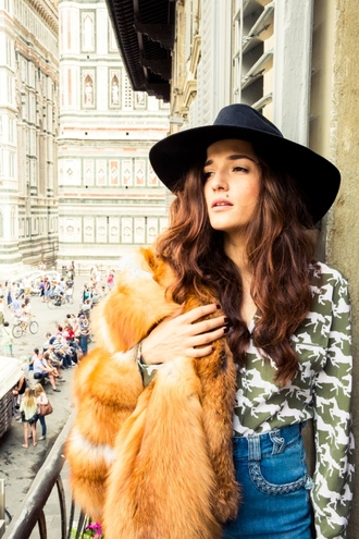 hat eleonora carisi the coveteur event 70s style blogger black black hat firenze4ever luxury classic new winter outfits fall oufits autumn/winter 2015 winter trends stylish italian style europe cool hippie horse faux fur fall outfits fall colors alternative