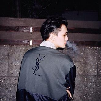 jacket black ysl sweatshirt ysl sweater sweatshirt luxury