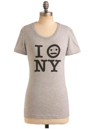 ny grey shirt shirt