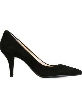 pointed toe pumps women pumps suede black shoes