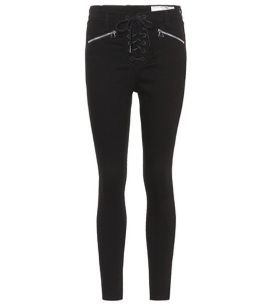 Rag & Bone High-rise skinny jeans in black