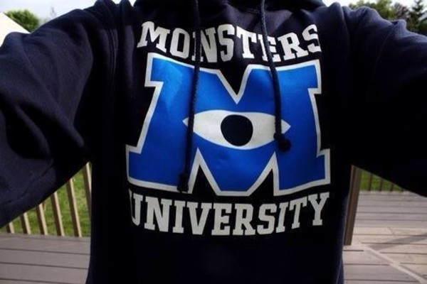 jacket sweatshirt sweater jumper monsters inc hoodie monsters university