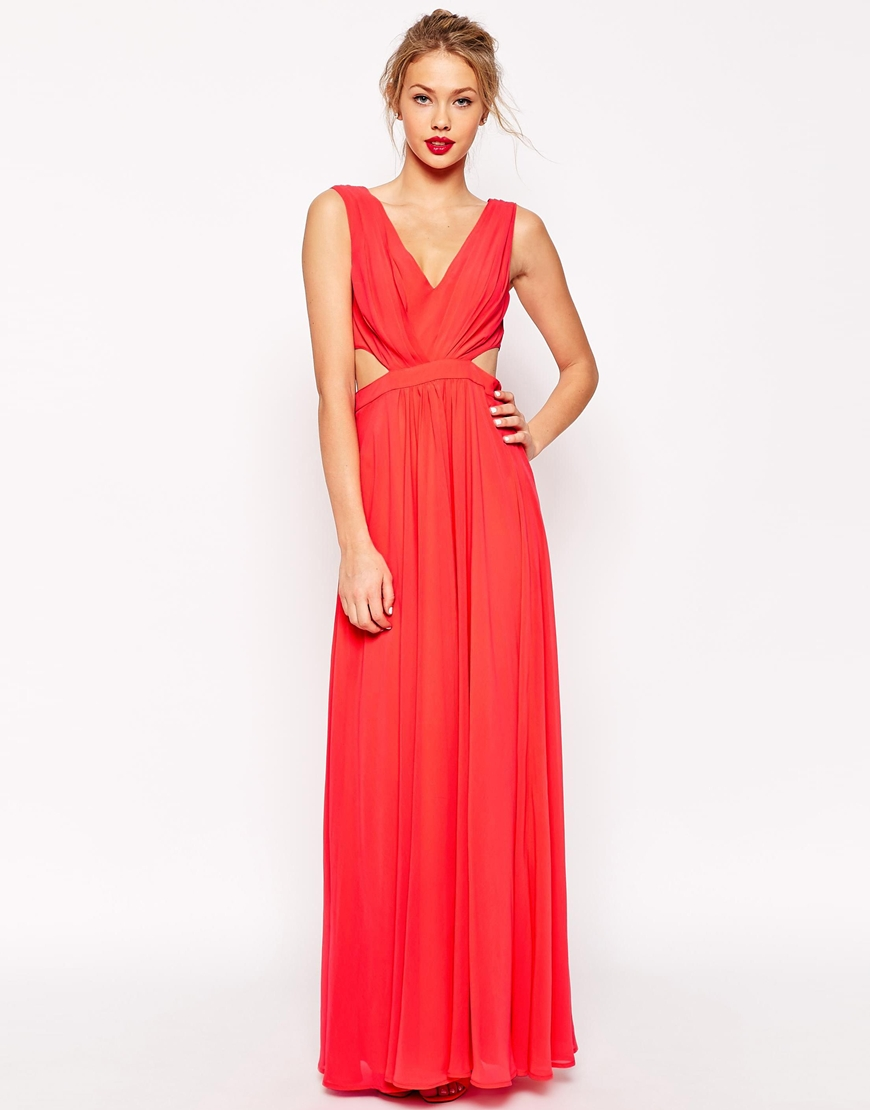 Asos side cutout maxi dress at asos.com
