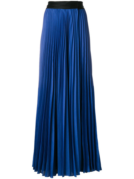 skirt maxi skirt maxi pleated women blue
