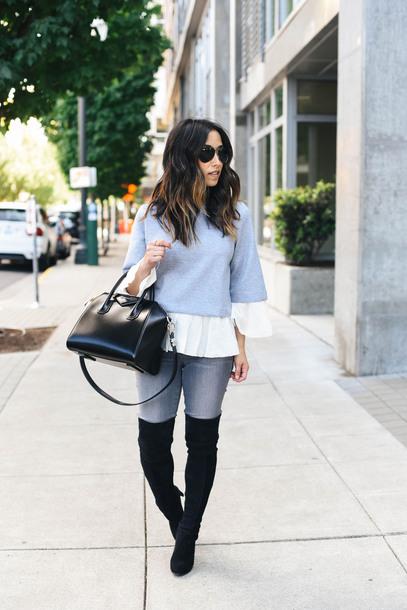 e9c69e22fda crystalin marie blogger sweater scarf jeans shoes bag