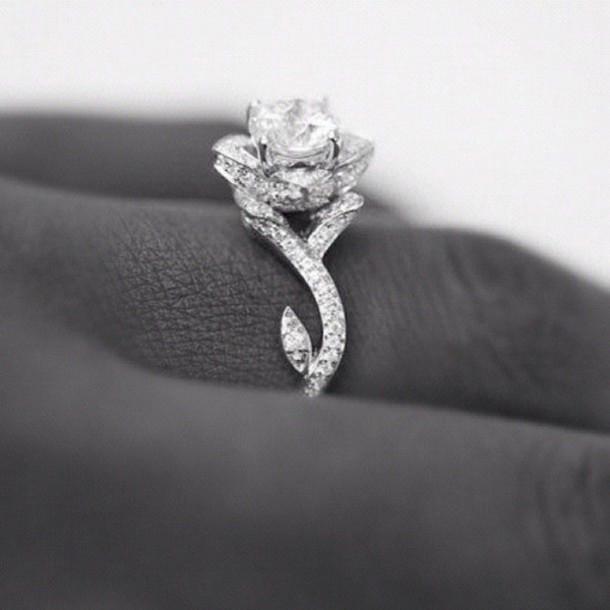 jewels ring rose diamonds diamond ring wedding ring rose ring