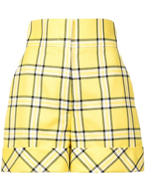 Sara Battaglia Checked Tailored Shorts - Farfetch