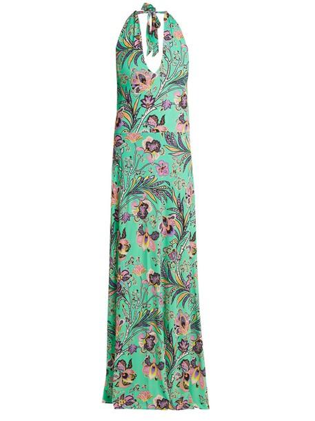 ETRO dress print paisley green