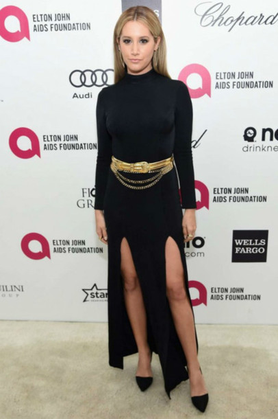 Ashley Tisdale Black Dress May 2017