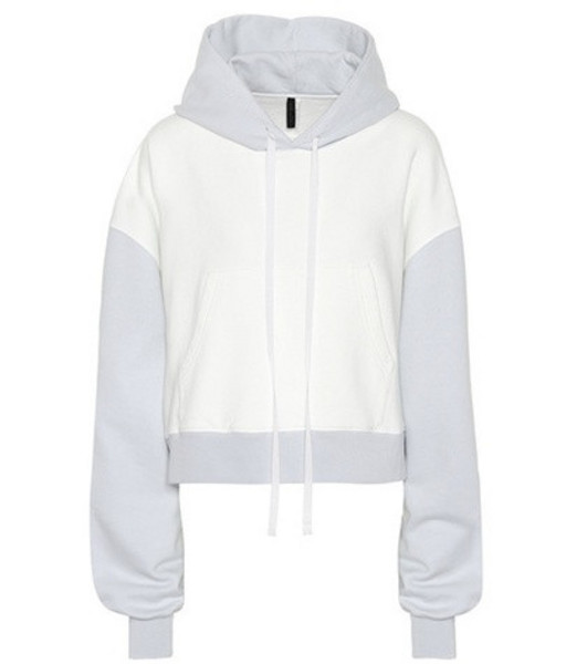 Unravel Cotton jersey hoodie in white