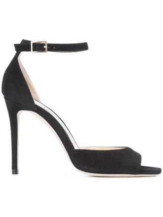 women 100 sandals leather black shoes