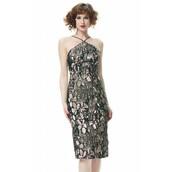 dress,teal,metallic,jacquard