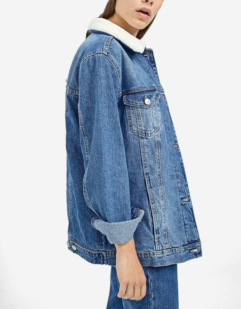 Stradivarius jacket denim jacket denim