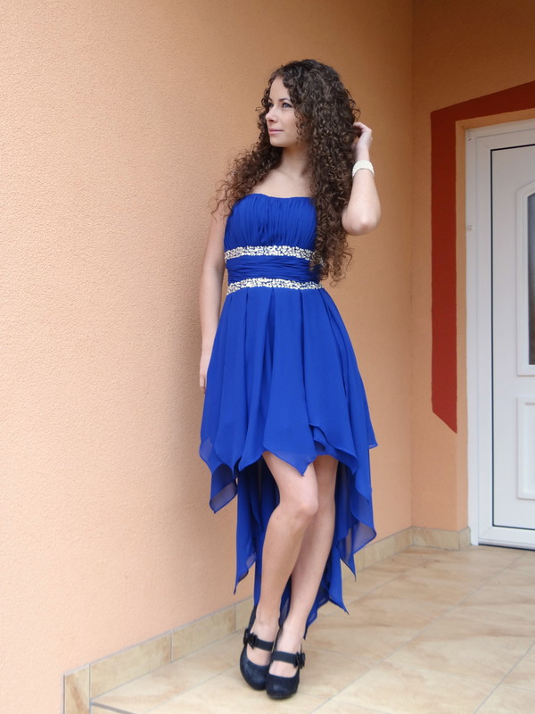 dress prom dress blue dress blue prom dress high low dress beaded dress special occasion royal blue
