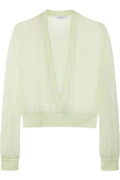 Givenchy sweater chiffon silk mint