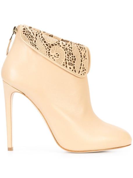 CHLOE GOSSELIN women leather nude shoes