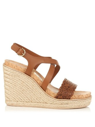 sandals wedge sandals tan shoes