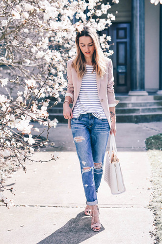 prosecco and plaid blogger jacket jeans shoes t-shirt bag
