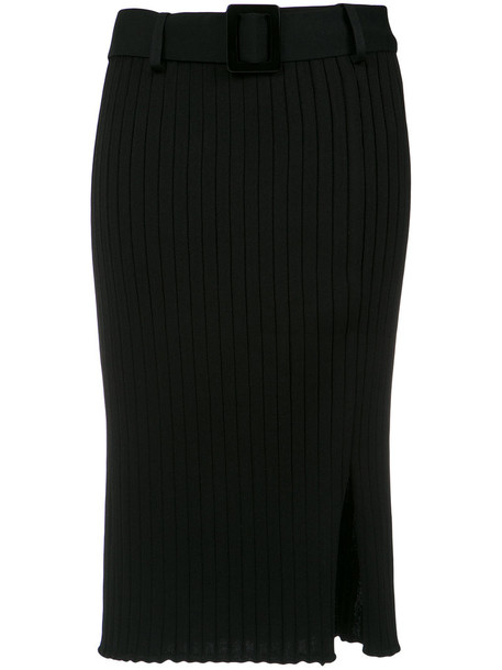 EGREY skirt knitted skirt women slit spandex black